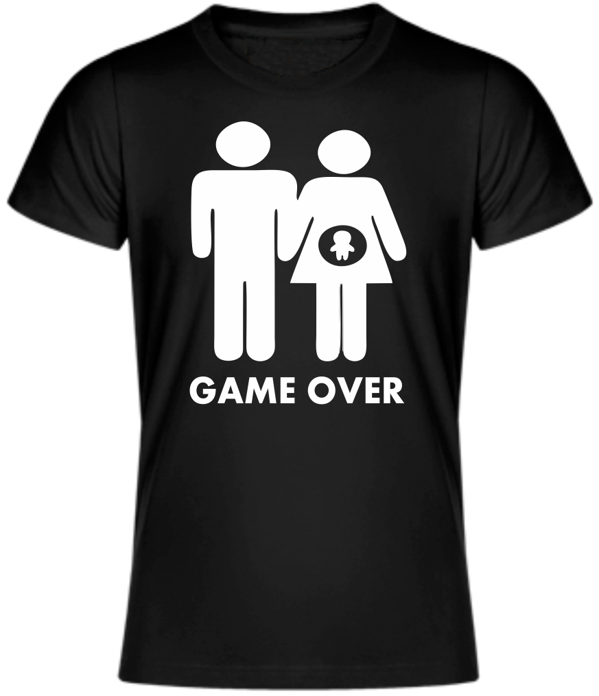 GAME OVER T-Shirt Pregnant parody Baby shower maternity ...