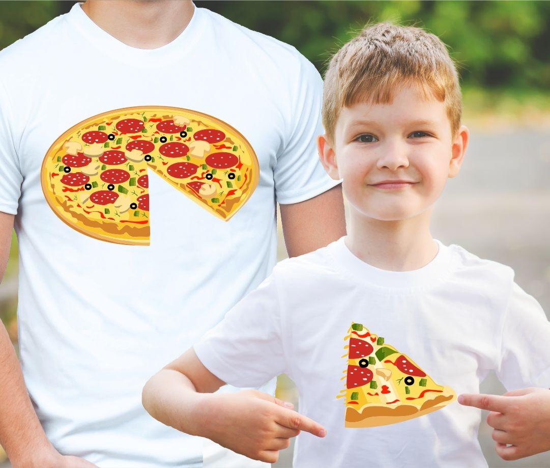 93eff88a51 Family T-Shirts - PIZZA ǀ Fajntričko.com