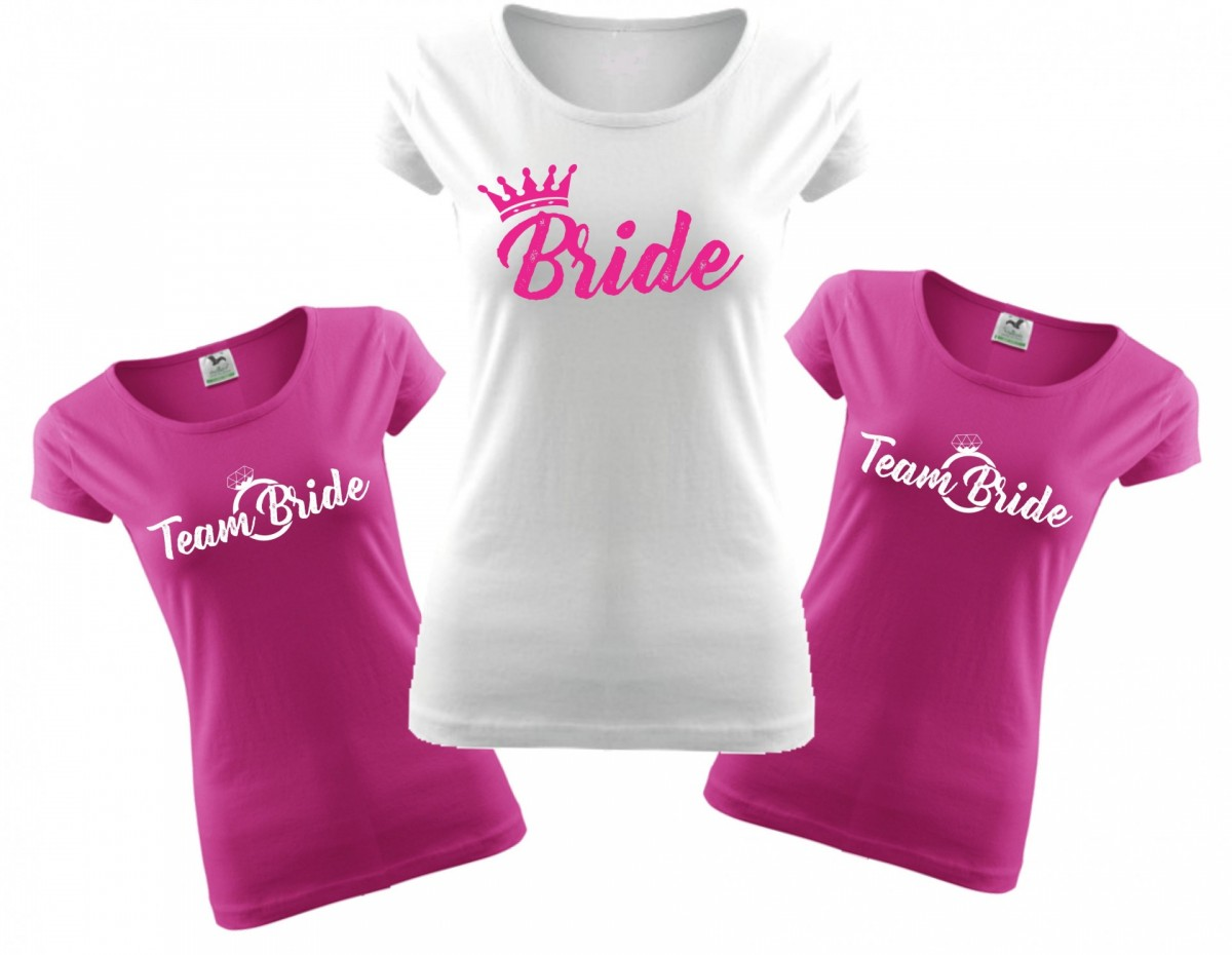 Ladie 39 s t shirts bride team farewell party for Wedding dress t shirt designs
