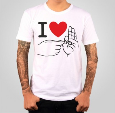 T-shirt- I love sex - fingers