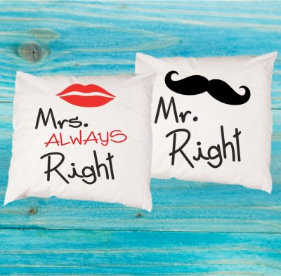 Set of 2pcs Pillowcases - Mr. Right - Mrs. Always right