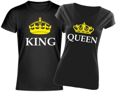 Men's / women's t-shirt KING - QUEEN (king / queen)