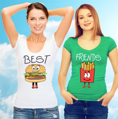 Women's friendships t-shirts - BEST FRIENDS - Fast food :)