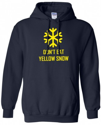 Hoodie - Yellow snow