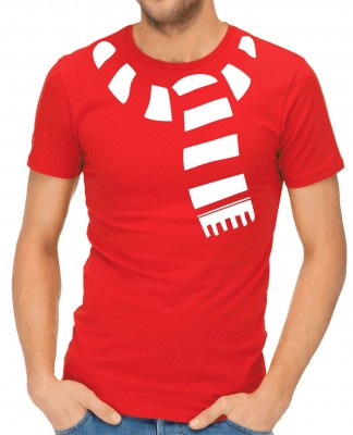T-shirt - Christmas scarf