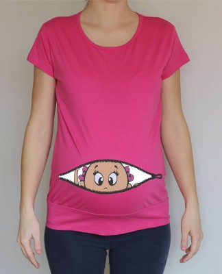 Pregnancy t-shirt - baby zipper girl
