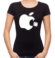 Women's T-shirt - Apple eats android
