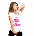 T-shirt - Keep calm and buy shoes (women's)