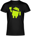 T-shirt - Android eats apple UNISEX