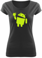 T-shirt Android eats apple (women)