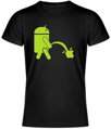 T-shirt - Android piss on Apple