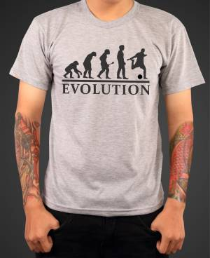 T-shirt Football evolution
