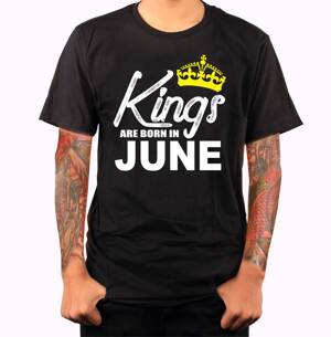 Men's T-shirt - KINGS ARE BORN IN ... (choose month)
