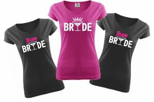Woman's tshirts- team Bride - Farewell party