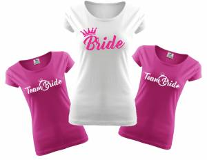 Ladie's T-Shirts - Bride Team