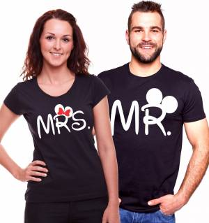 Men's / women's t-shirt Mr., Mrs. Mickey.