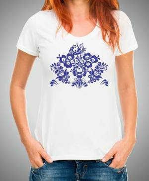 Women's T-shirt - Folk pattern