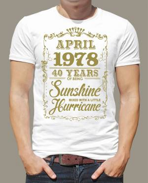 Birthday's t-shirt - XX yeaes of beeing sunshine