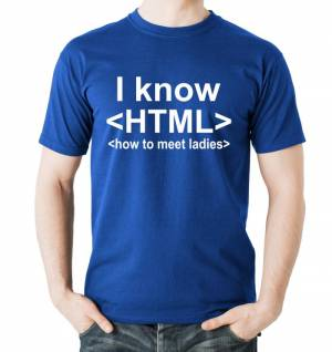 T-shirt - I know HTML