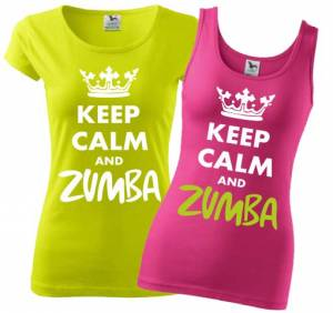 Women's T-shirt/singlet Keep Calm and Zumba