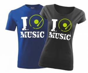 T-shirt - I MUSIC men's/woman