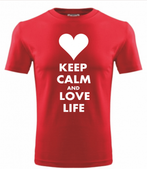 T-shirt - KEEP CALM AND LOVE LIFE