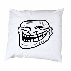 Trollface pillowcase meme