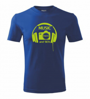 T-shirt - music, photo and sex